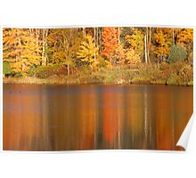 Muskoka Reflections in Fall Poster