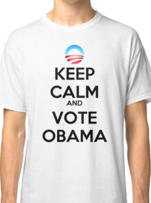 Keep Calm and Vote Obama (logo) Classic T-Shirt