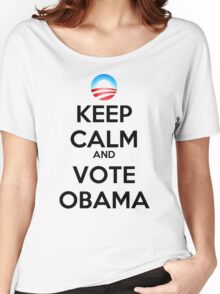 Keep Calm and Vote Obama (logo) Women's Relaxed Fit T-Shirt