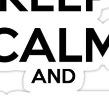 Keep Calm and Vote Obama (logo) Sticker