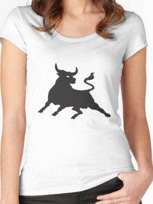 Black Power Bull Women's Fitted Scoop T-Shirt