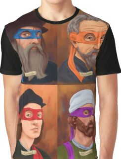 The Renaissance Ninja Artists Graphic T-Shirt