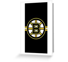 Boston Bruins Logo Greeting Card