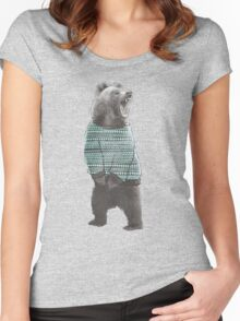 Sweater Bear Women's Fitted Scoop T-Shirt