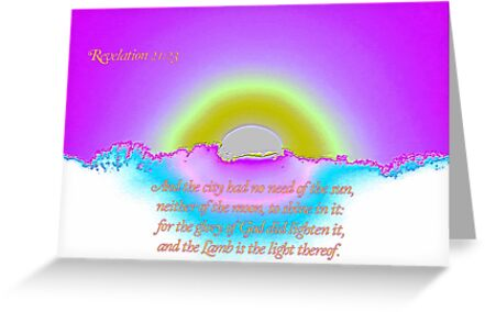 The Lamb is the Light Thereof by aprilann