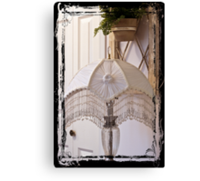 Bead Fringed Hand Stitched Lamp Shade Canvas Print