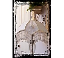 Bead Fringed Hand Stitched Lamp Shade Photographic Print