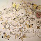 PEACE AND LOVE 3 by Gea Jones