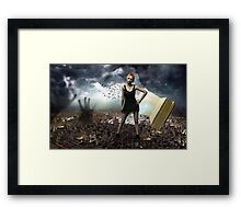 Anything can happen in a book Framed Print