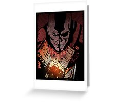 inFAMOUS : Bad Karma Poster Greeting Card