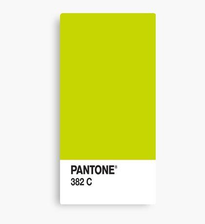 Pantone 382c Canvas Print