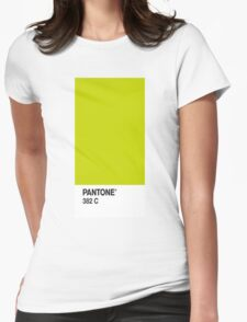 Pantone 382c Womens Fitted T-Shirt