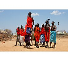 """maasai warrior jumping dance"" Photographic Print"