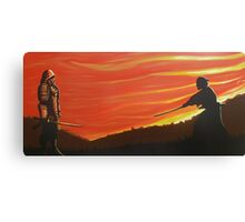 Your time has come evil one! Canvas Print