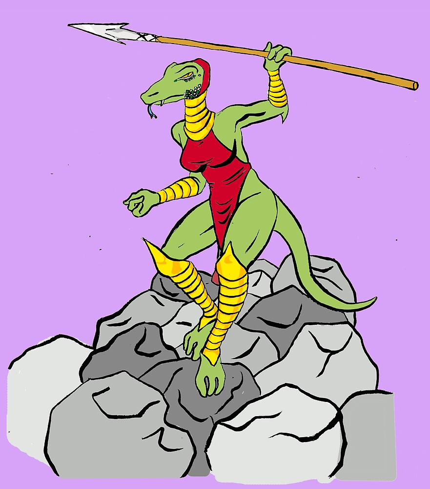 Lizard Warrior by Tatiana  Gill