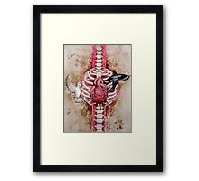 A dove to catch your love, a blackbird to steal your heart.. Framed Print