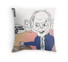 Wolfgang SCHAUBLE en caricature Throw Pillow