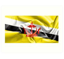 Brunei Flag Art Print