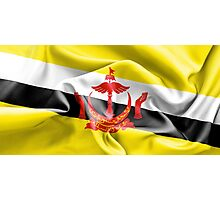 Brunei Flag Photographic Print