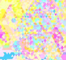 triangle pattern Sticker