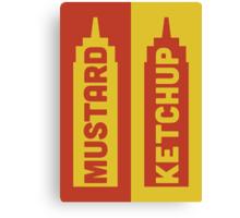 Ketchup, Mustard Canvas Print