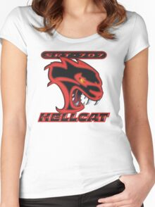 Hellcat - Red & Black Women's Fitted Scoop T-Shirt