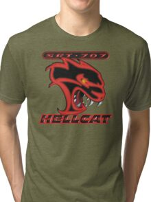 Hellcat - Red & Black Tri-blend T-Shirt