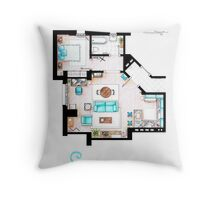 Seinfeld Apartment v2 Throw Pillow