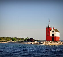 Round Island Lighthouse,Mackinac Island,Michigan,USA by Soma Debnath