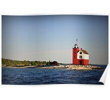 Round Island Lighthouse,Mackinac Island,Michigan,USA Poster