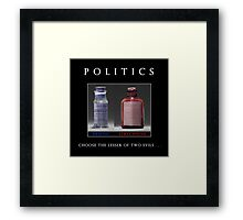 Poison Politics Framed Print