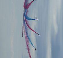 Red Arrows Starburst by Giorgio Elesaro