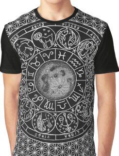 Zodiac Moon - Mandala Design Graphic T-Shirt