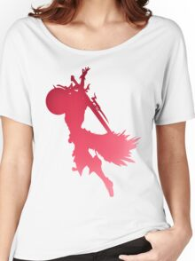 Pink Lightning Final Fantasy XIII XIII-2 Silhouette Women's Relaxed Fit T-Shirt