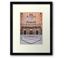 Entrance to Basilica in Montserrat Framed Print