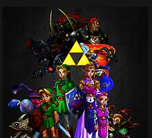 Ocarina Of Time All Bosses by mechabot4