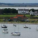 Lindisfarne, the Holy Island, village view from castle 2 by BronReid