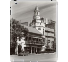 Figlio's on the Country Club Plaza, Kansas City, Tilt-Shift, Sepia iPad Case/Skin