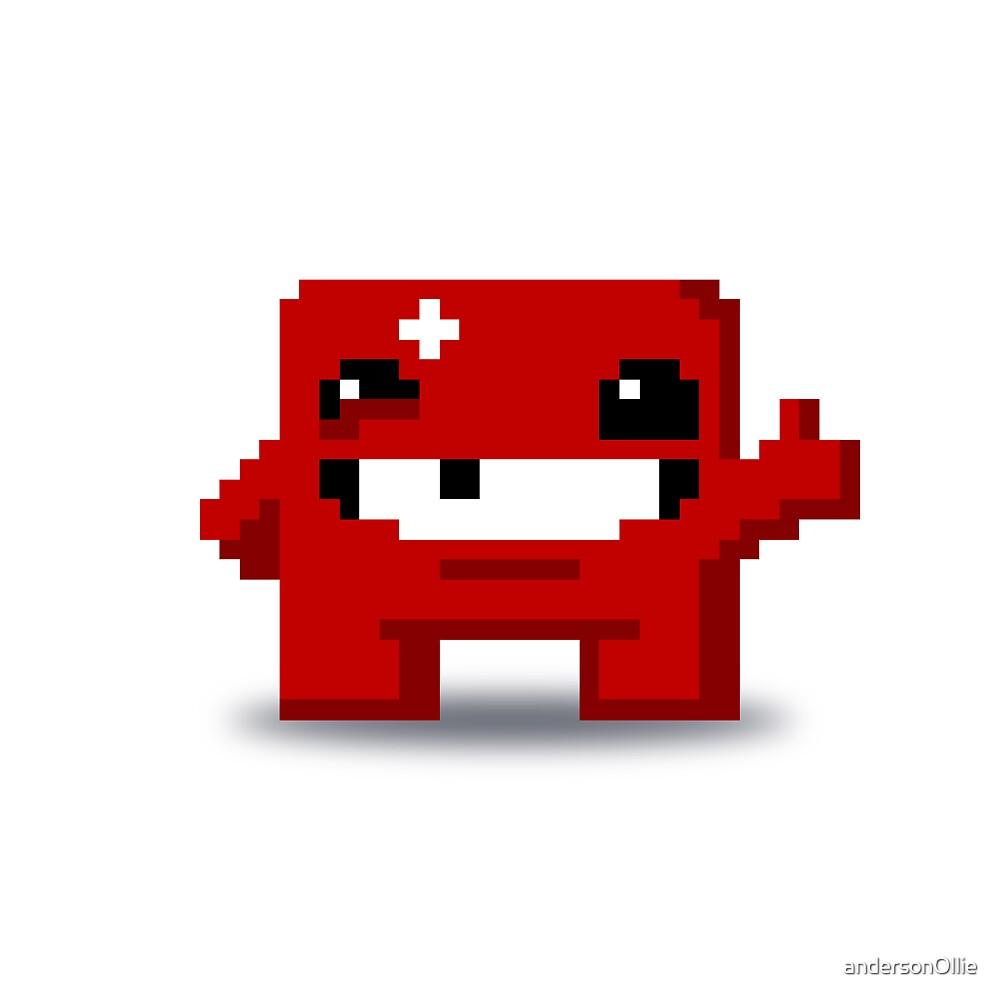 Super Meat Boy Pixels by andersonOllie