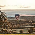 Balloon over Defford, Worcestershire by LisaRoberts