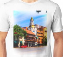 Figlio's on the Country Club Plaza, Kansas City, Tilt-Shift, Blur Unisex T-Shirt