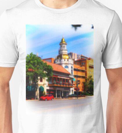 Figlio's on the Country Club Plaza, Kansas City, Tilt-Shift, Blur Unisex T-Shirt