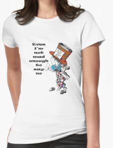Funny Mad Hatter Scottish Independence T-Shirt Womens Fitted T-Shirt