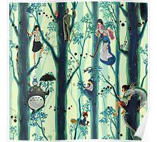 Studio Ghibli Family Tree Poster