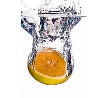 Grapefruit Splash Photographic Print