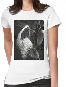 Humboldt Penguin, Black and White Womens Fitted T-Shirt