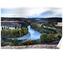 Fall on the Yakima Poster