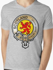 Scotland Lion Rampant Crest Mens V-Neck T-Shirt