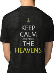 gurren lagann keep calm and pierce the heavens anime manga shirt Tri-blend T-Shirt
