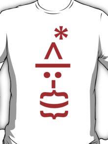 Santa with Beard Smiley Emoticon T-Shirt